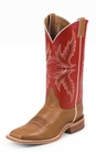 Justin Mens Boots Brandy Burnished Calf BR300