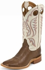 Justin Mens Boots Chocolate Burnished Calf BR301