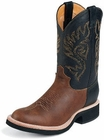 Justin Mens Boots Tekno Crepe Collection Coffee Westerner Crepe Soled Boots 5008