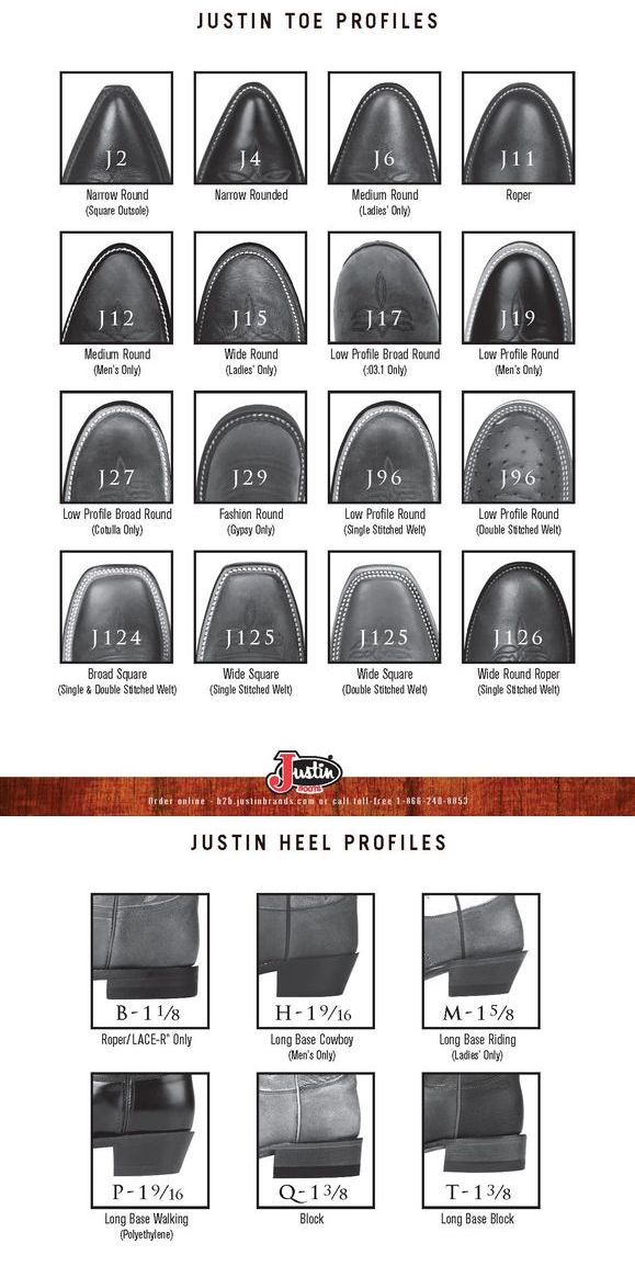 Justin Toe and Heel Styles