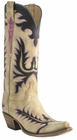Womens Lucchese Classics Destroyed Winter Camel Goat Custom Hand-Made Western Boots L4740