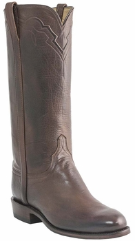 Womens Lucchese Classics Reggello Brown Florence Buffalo Leather Custom Hand-Made Roper Boots L5520
