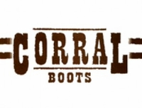 Ladies Corral Boots Brown Crackle/Bone Embroidery G5048