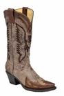Ladies Corral Boots Brown Sequence Eagle Inlay R1111