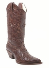 Ladies Corral Boots Chocolate Vintage Lizard Overlay C2109