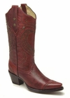 Ladies Corral Boots Red Heart With Studs R1030