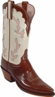 Ladies Lucchese Classics Almond Buffalo Custom Hand-Made Western Boots L4587