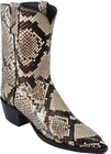 Ladies Lucchese Classics Black and White Python Snake Custom Hand-Made Western Boots L4082