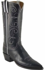 Ladies Lucchese Classics Black Buffalo Custom Hand-Made Western Boots L4622