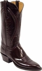 Ladies Lucchese Classics Black Cherry Goat Custom Hand-Made Western Boots L4534