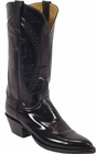 Ladies Lucchese Classics Black Goat Custom Hand-Made Western Boots L4535