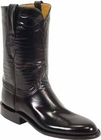 Ladies Lucchese Classics Black Goat Leather Custom Hand-Made Roper Boots L5507