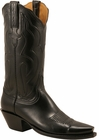 Ladies Lucchese Classics Black Kangaroo Custom Hand-Made Western Boots L4701