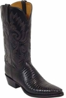 Ladies Lucchese Classics Black Lizard Custom Hand-Made Western Boots L4033