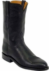 Ladies Lucchese Classics Black Ranch Hand Leather Custom Hand-Made Roper Boots L5512