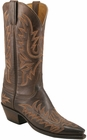 Ladies Lucchese Classics Chocolate Burnished Mad Dog Goat Custom Hand-Made Western Boots L4633