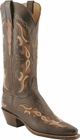 Ladies Lucchese Classics Chocolate Burnished Mad Dog Goat Custom Hand-Made Western Boots L4674