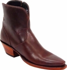 Ladies Lucchese Classics Chocolate Oil Leather Custom Hand-Made Side Zip Pony Boots F5041