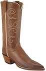 Ladies Lucchese Classics Cognac Burnished Ranch Hand Custom Hand-Made Western Boots L4623