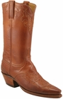 Ladies Lucchese Classics Cognac Burnished Ranch Hand Custom Hand-Made Western Boots L4635