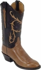 Ladies Lucchese Classics Cognac Ranch Hand Custom Hand-Made Western Boots L4531