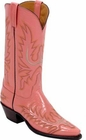 Ladies Lucchese Classics Coral Pink Goat Custom Hand-Made Western Boots L4553