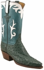 Ladies Lucchese Classics Cypress Quill Ostrich Custom Hand-Made Western Boots L4641