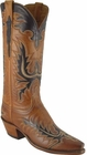 Ladies Lucchese Classics Honey Burnished Ranch Hand Custom Hand-Made Western Boots L4624