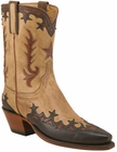 Ladies Lucchese Classics Honey Burnished Ranch Hand Custom Hand-Made Western Boots L4647