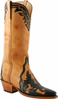 Ladies Lucchese Classics Laggenda Tooled Honey Burnished Ranch Hand Custom Hand-Made Western Boots L4665