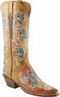 Ladies Lucchese Classics Maple Burnished Pig Custom Hand-Made Western Boots L4671
