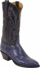 Ladies Lucchese Classics Navy Blue Lizard Custom Hand-Made Western Boots L4036