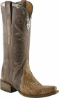 Ladies Lucchese Classics Old Nugget Burnished Lizard Wingtip Custom Leather Boots L4143