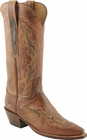 Ladies Lucchese Classics Peanut Brittle Burnished Mad Dog Goat Custom Hand-Made Western Boots L4673
