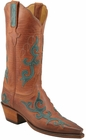 Ladies Lucchese Classics Peanut Mad Dog Goat Custom Hand-Made Western Boots L4629