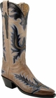 Ladies Lucchese Classics Pearl Bone Mad Dog Goat Custom Hand-Made Cowgirl Boots L4592