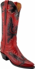 Ladies Lucchese Classics Red Mad Dog Goat Custom Hand-Made Cowgirl Boots L4594