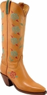 Ladies Lucchese Classics Rose Stitch Honey Ranch Hand Leather Custom Hand-Made Tall Boots L4600