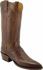 Ladies Lucchese Classics Tan Burnished Ranch Hand Custom Hand-Made Western Boots L4588
