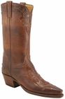 Ladies Lucchese Classics Tan Burnished Ranch Hand Custom Hand-Made Western Boots L4634