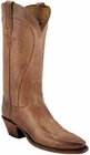 Ladies Lucchese Classics Tan Mad Dog Goat Custom Hand-Made Western Boots L4609