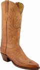 Ladies Lucchese Classics Tan Mad Dog Goat Custom Hand-Made Western Boots L4611