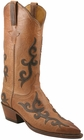 Ladies Lucchese Classics Tan Mad Dog Goat Custom Hand-Made Western Boots L4628