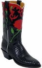 Ladies Lucchese Vintage Classics Black Lizard Custom Hand-Made Cowgirl Boots L7008
