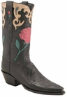 Ladies Lucchese Vintage Classics Black Mad Dog Goat Custom Hand-Made Cowgirl Boots L7048