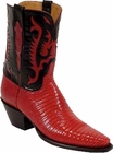 Ladies Lucchese Vintage Classics Red Lizard Custom Hand-Made Cowgirl Boots L7006