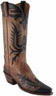 Ladies Lucchese Vintage Classics Tan Mad Dog Goat Custom Hand-Made Cowgirl Boots L7045