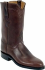 Ladies Lucchese Classics Chocolate Oil Calf Leather Custom Hand-Made Roper Boots L5515