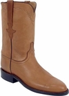 Ladies Luchese Classics Cognac Ranch Hand Leather Custom Hand-Made Roper Boots L5514