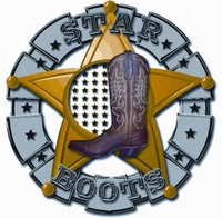 "Ladies Star Boots 10-1/2"" Tobacco Cowboy W7301B"
